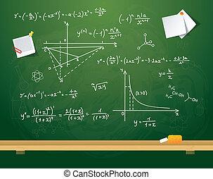 Green school board - Vector illustration of Green school...