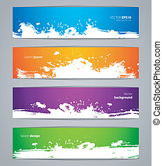 Splash designs set - Vector illustration of Splash designs...