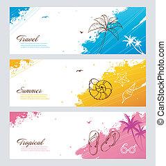Color summer set with splash - Vector illustration of Color...