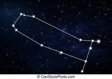 Gemini horoscope star sign with night sky