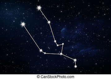 taurus horoscope star sign with night sky