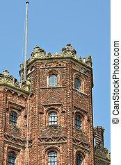 Elizabethan tower detai - Detail of elizabethan tower
