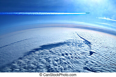 Earth from above the clou - Earth from above the clouds -...