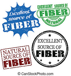excellent source of fiber stamps - Set of excellent source...