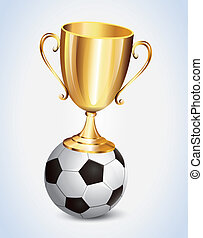 Gold Cup Foot Ball vector