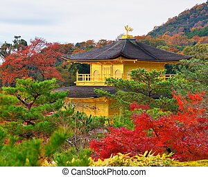 Temple of the Golden Pavilion on Kyoto, Japan nov 28