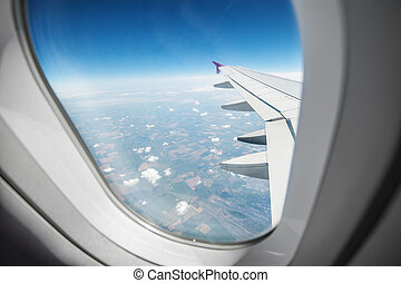 airplane - view through airplane window