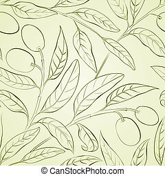 Olive background - Seamless olive background Vector...