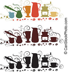 coffee utensil shapes Vector illustration