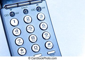 Phone Keypad taken closeup with blue tone