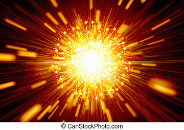 Abstract firework - Abstract festive background - bright...