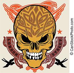 Illustration skull design