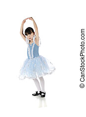 Graceful Little Dancer - An adorable elementary girl in tap...