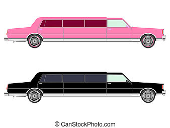 Stretch limo in two colors