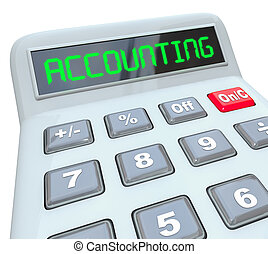 Accounting Word Calculator Bookkeeping Budget Work - The...