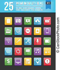 Modern Universal Vector Icons for Web and Mobile Set 2