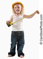 Little construction worker - Portrait of an adorable little...