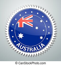 Australian flag label - Vector flag label series - Australia