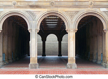 Bethesda terrace - view of Bethesda Terrace in the heart of...