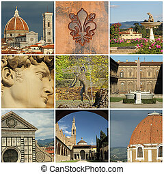 landmarks of Florence  collage