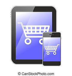 mobile devices shopping icon