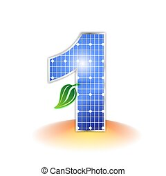 solar panel number 1 - solar panels texture icon or symbol,...