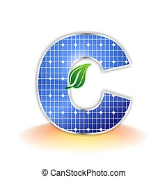 solar panel uppercase letter C - solar panels texture icon...