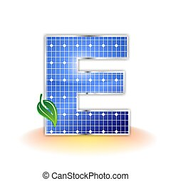 solar panel uppercase letter E - solar panels texture icon...