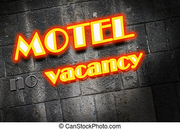 Motel neon light Sign - Motel Cottage Inn Motel neon light...