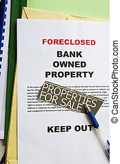 Foreclosed notice on a loan mortgage on a property