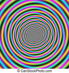 Candy Stripe Vortex - Digital abstract fractal image with a...
