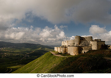 Krak des Chevaliers crusader castle in Syria