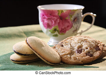 Afternoon Tea with Cookies - Afternoon tea with chocolate...
