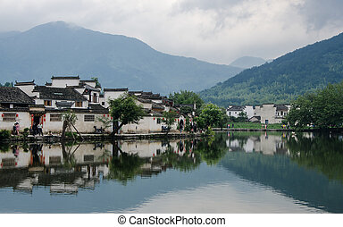 Hongcun Ancient Villiage - An ancient village located near...