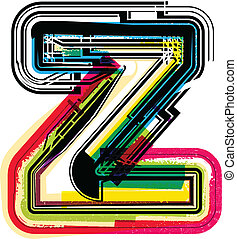 Colorful Grunge LETTER z