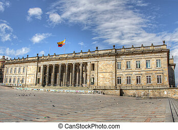 Capitolio of Colombia with Plaza Bolivar - Capitol building...
