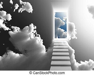 Enter - Doorway Sky