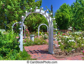 English Rose Garden - Entrance to an English Rose Garden