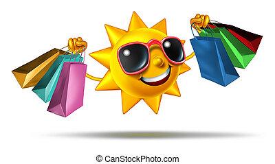 verão, shopping