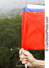 Russian flag - The Russian flag made of three tags of...