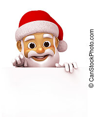 3d render Santa Claus - 3d illustration Santa Claus...