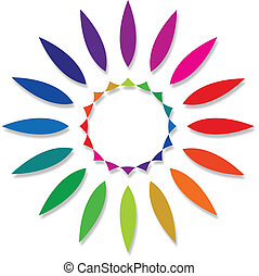 round color palette against white background, abstract...