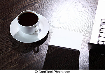 Coffee at business workplace