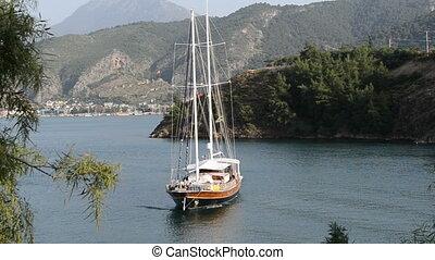 Yacht on Mediterranean