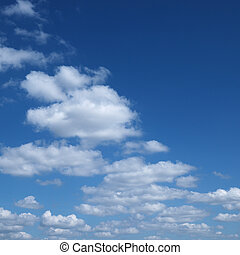 Skyscape. - Clouds in blue sky.