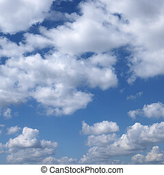 Cloudscape. - Clouds in blue sky.