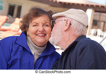 Loving Senior Adult Couple - Happy Senior Adult Couple...