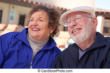 Outdoor Senior Adult Couple