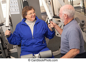 Senior Couple in the Gym