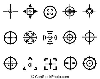 crosshair icon - isolated crosshair icon from white...